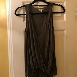Olive urban outfitters wrap tank